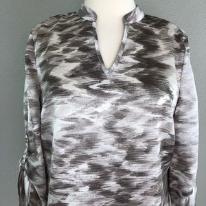 Chico's Tops - Chicos Travelers 0 Small Tunic Blouse Leopard  Top